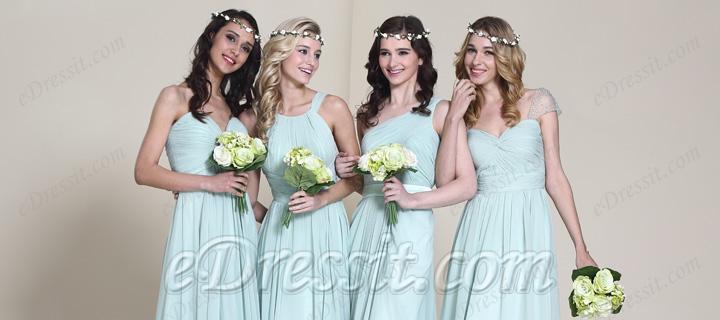 Für Sommer Hochzeit wählen grüne Brautjungfer Kleider ist besser ...